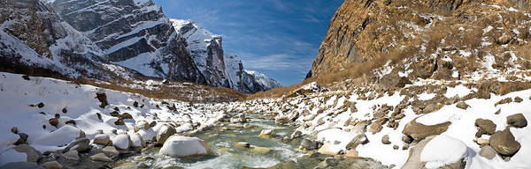 Wall Art - Photograph - River Flowing Through Rocks, Modi Khola by Panoramic Images