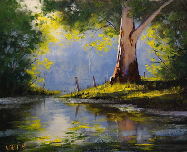 Australian Art Painting - River Gum by Graham Gercken