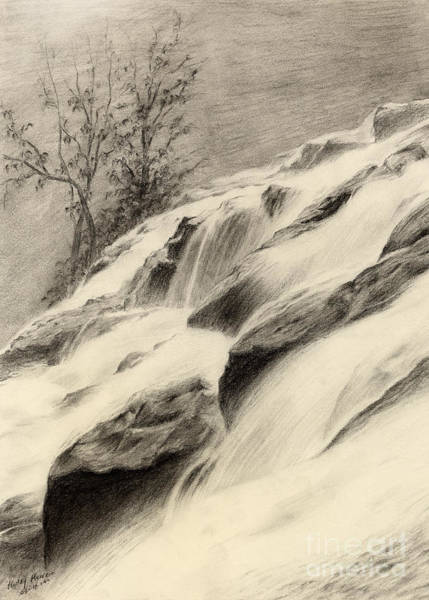 Wall Art - Drawing - River Stream by Hailey E Herrera