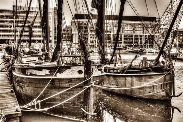Wall Art - Photograph - River Thames Sailing Barges by David Pyatt