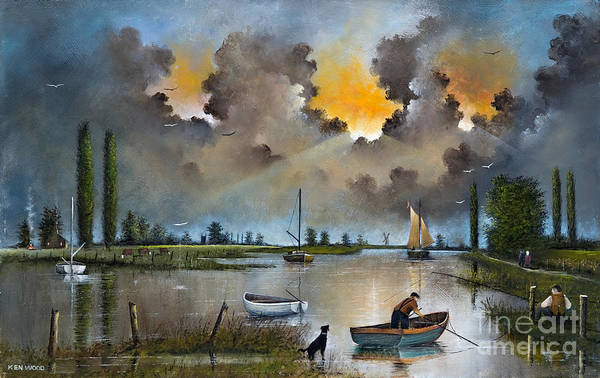 River Yare On The Broads Art Print