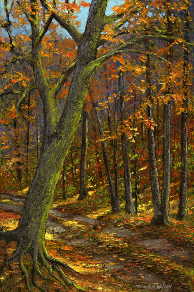 Painting - Road In The Woods by Frank Wilson