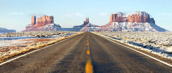 Southwest Photograph - Road Lead Into Monument Valley by King Wu