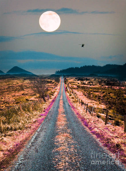 Fence Mixed Media - Road Less Traveled  by Celestial Images