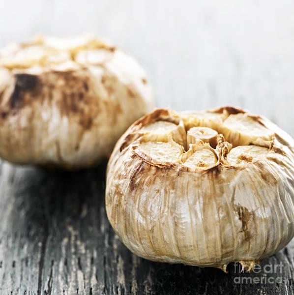 Photograph - Roasted Garlic Bulbs by Elena Elisseeva
