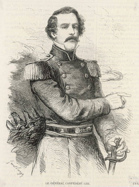 Confederate Soldier Drawing - Robert Edward Lee  American Confederate by Mary Evans Picture Library