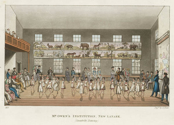 Wall Art - Drawing - Robert Owen's Institution At  New by Mary Evans Picture Library