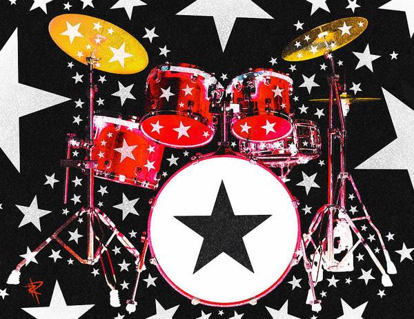 Wall Art - Digital Art - Rock Star In Red by Russell Pierce