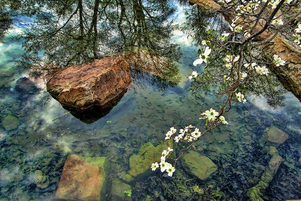 Honor Heights Park Photograph - Rocks And Reflections by Carolyn Fletcher
