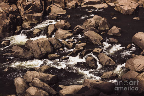 Current Wall Art - Photograph - Rocky Launceston River From Cataract Gorge by Jorgo Photography - Wall Art Gallery