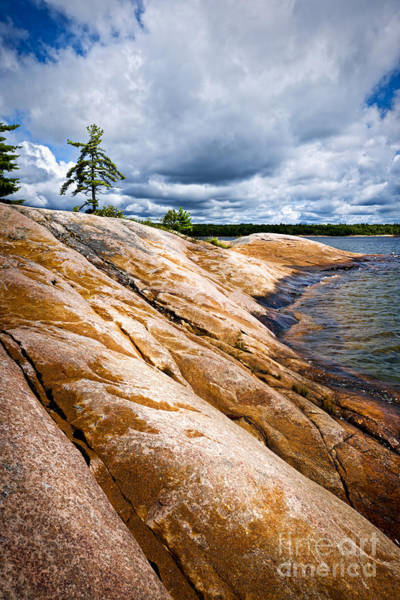 Photograph - Rocky Shore Of Georgian Bay by Elena Elisseeva