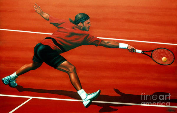 Australian Art Painting - Roger Federer At Roland Garros by Paul Meijering