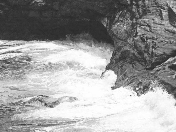 Photograph - Rolling Breakers In Lava Cave by Frank Wilson