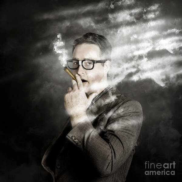 Photograph - Rolling Rich Millionaire Businessman Smoking Money by Jorgo Photography - Wall Art Gallery