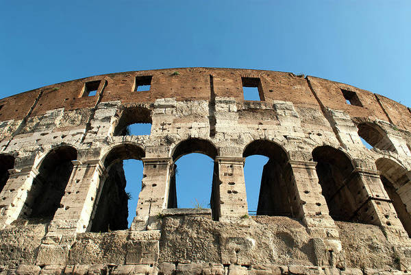 Amphitheater Wall Art - Photograph - Rome, Italy A Detail Of The Flavian by David Noyes