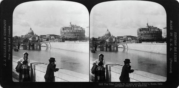 Wall Art - Painting - Rome Tiber River, 1908 by Granger