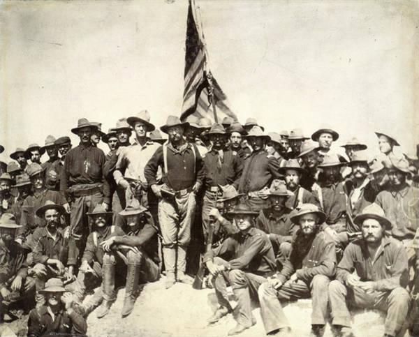 Wall Art - Photograph - Roosevelt & Rough Riders by Granger