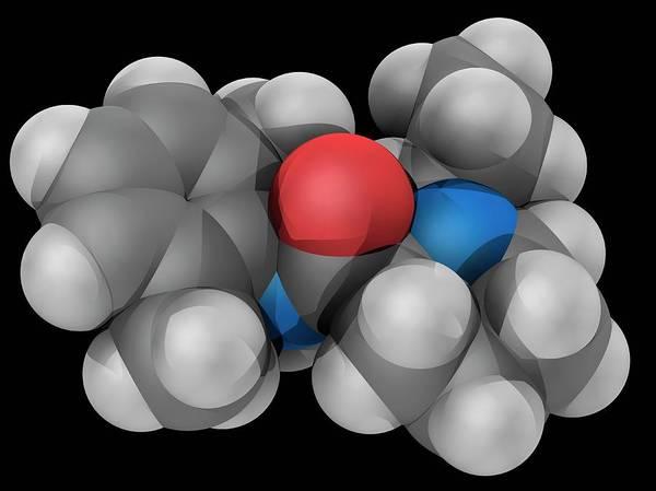 Compound Photograph - Ropivacaine Drug Molecule by Laguna Design/science Photo Library
