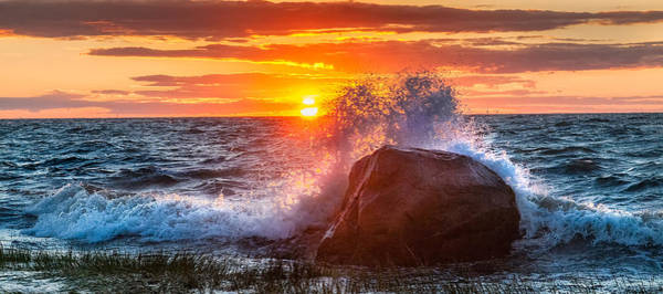 Cape Cod Sunset Photograph - Rough Sea by Bill Wakeley