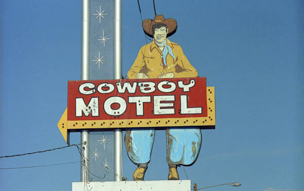 Historic Route 66 Photograph - Route 66 - Cowboy Motel by Frank Romeo
