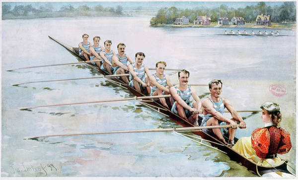 Rowing Wall Art - Painting - Rowing, C1900 by Granger