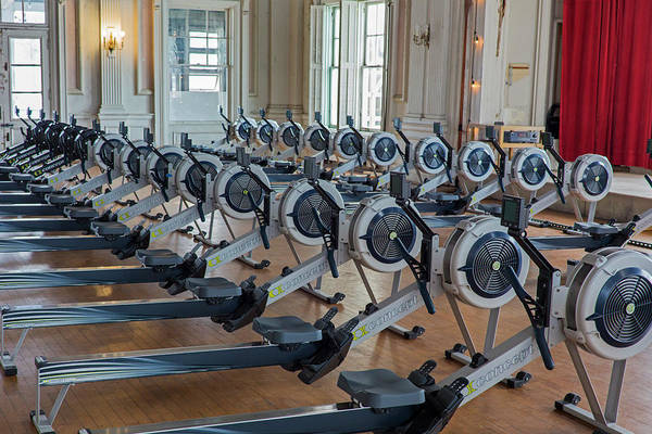 Rowing Wall Art - Photograph - Rowing Machines by Jim West/science Photo Library