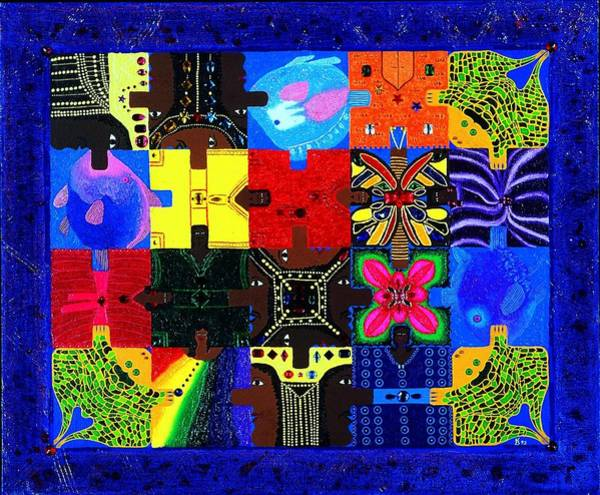 Painting - Royal Puzzle by Karen Buford