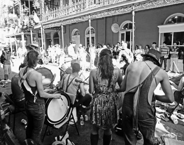 Photograph - Royal Street Buskers In New Orleans by Louis Maistros