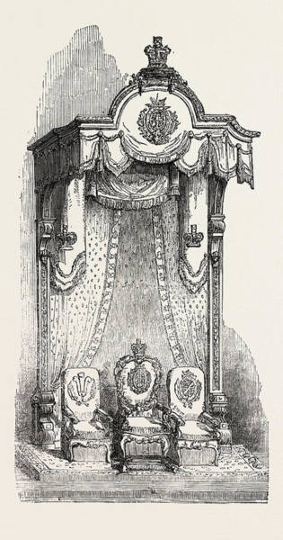 Manchester Drawing - Royal Throne In The Exchange At Manchester by English School
