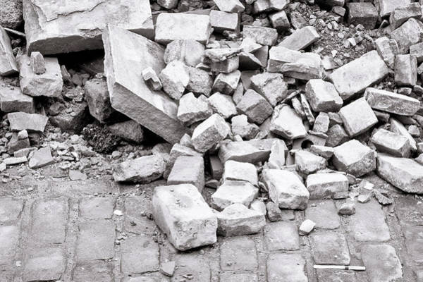 Old Wall Art - Photograph - Rubble by Tom Gowanlock