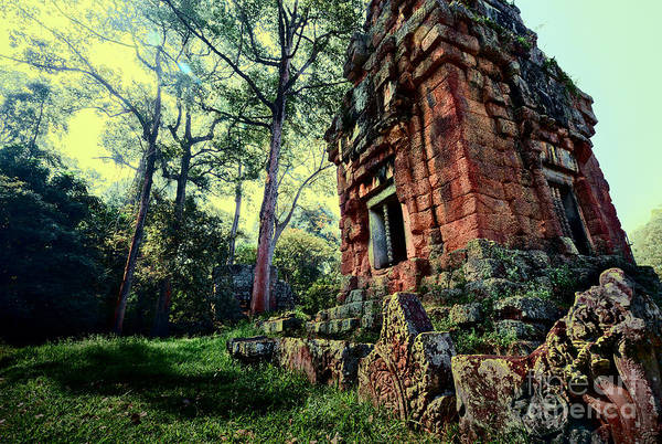 Angkor Wall Art - Photograph - Ruin At Angkor by Julian Cook