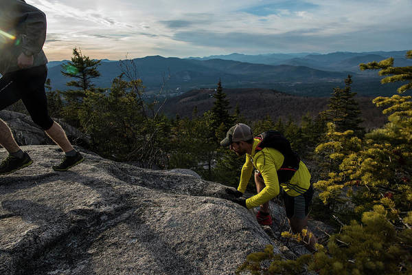 Tree Climbing Photograph - Runners On Black Cap In New Hampshire by Joe Klementovich