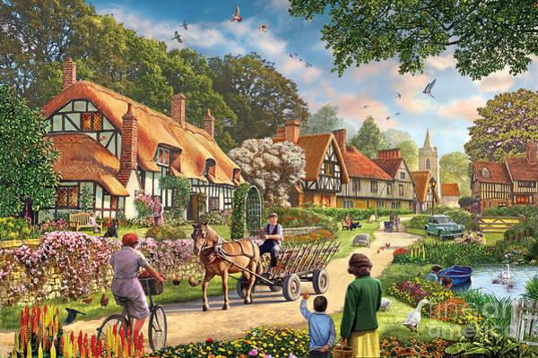 Old Town Digital Art - Rural Life by MGL Meiklejohn Graphics Licensing