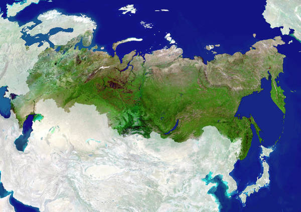 Kamchatka Photograph - Russia by Planetobserver/science Photo Library