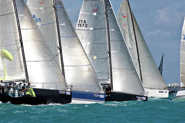 Miami-dade Photograph - Sailboat In Acura Miami Grand Prix by Panoramic Images