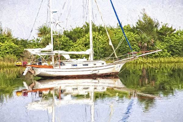Photograph - Sailboat Reflections by Alice Gipson
