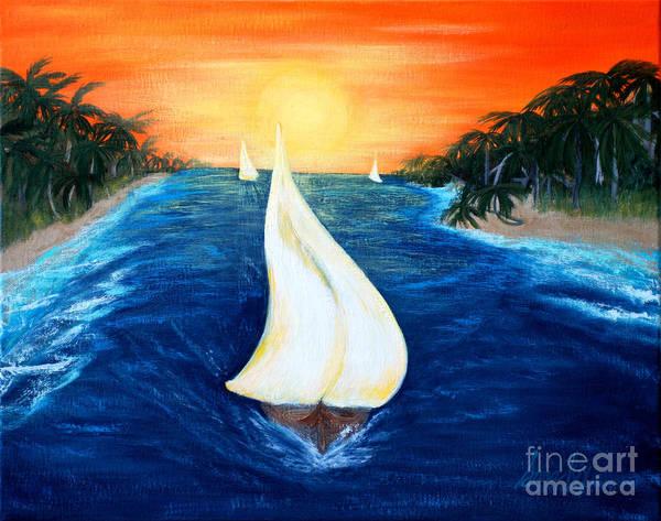Painting - Sailboats. Inspirations Collection. by Oksana Semenchenko