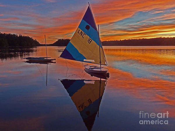 Poconos Wall Art - Photograph - Sailing Lake Naomi 2 by Jack Paolini