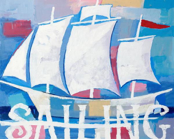 Painting - Sailing by Lutz Baar