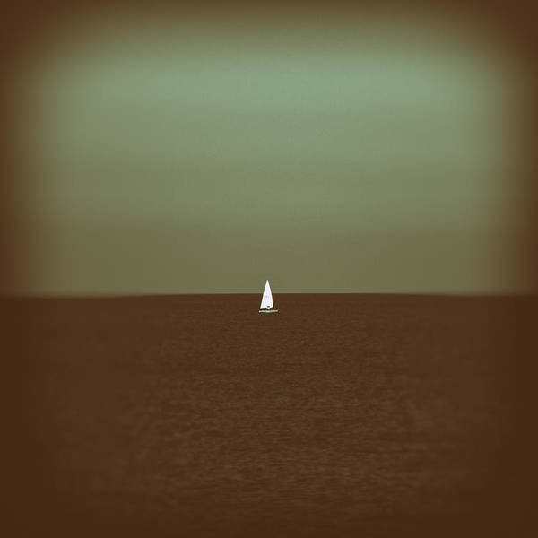 Aqua Green Photograph - Sailing by Stelios Kleanthous