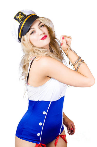 Cadets Wall Art - Photograph - Sailor Fashion Model Wearing Expensive Jewelry  by Jorgo Photography - Wall Art Gallery
