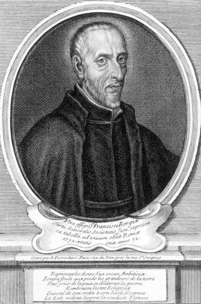 Wall Art - Drawing - Saint Francisco De Borgia Spanish Noble by Mary Evans Picture Library