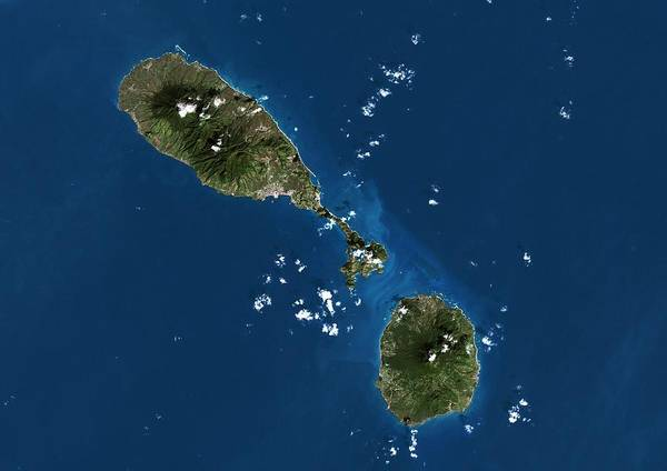 St Kitts Photograph - Saint Kitts And Nevis by Planetobserver/science Photo Library