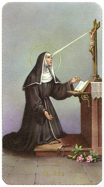 Wall Art - Drawing - Saint Rita Of Cascia Italian Peasant by Mary Evans Picture Library