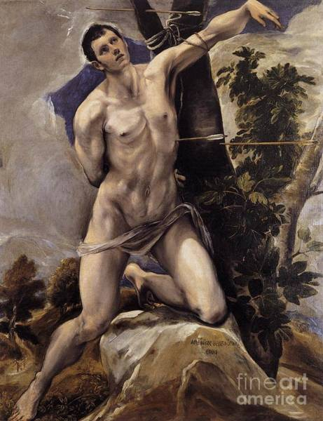 Painting - Saint Sebastian by Celestial Images