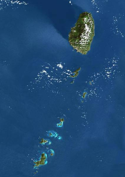 Wall Art - Photograph - Saint Vincent And The Grenadines by Planetobserver/science Photo Library