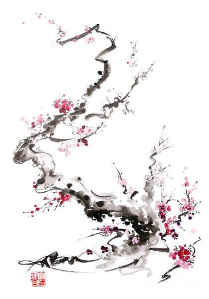 Wall Art - Painting - Sakura Spring Blossom. by Mariusz Szmerdt