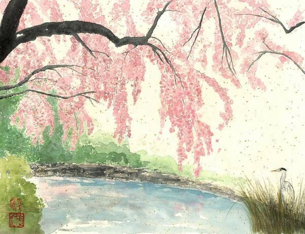 Wall Art - Painting - Sakura II by Terri Harris