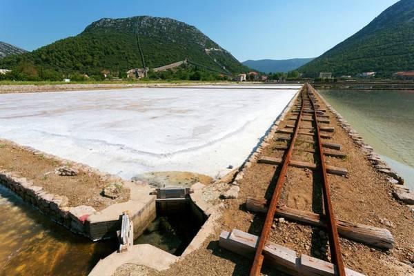 Salt Pond Photograph - Salt Evaporation Ponds by Dr Juerg Alean