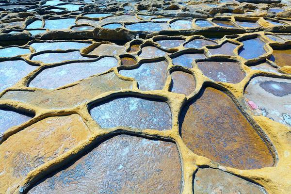 Salt Pond Photograph - Salt Evaporation Ponds by Wladimir Bulgar